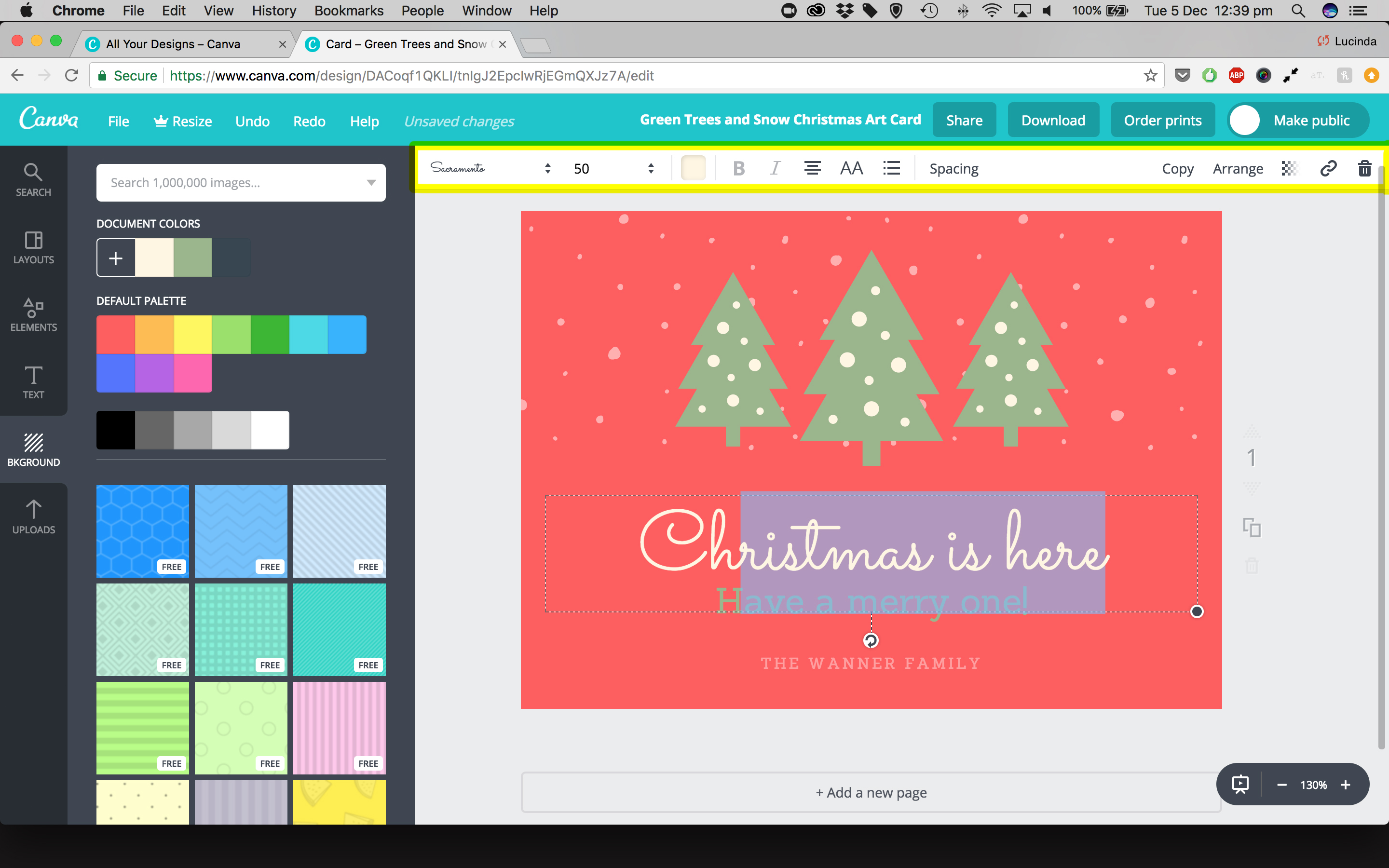 How To Create A Personalised Christmas Card With Canva Easy Step